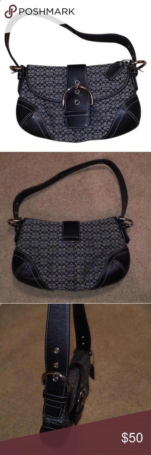 Black Coach purse (looks brand new) Barely used Coach purse!! Great condition!!! Coach Bags Satchels