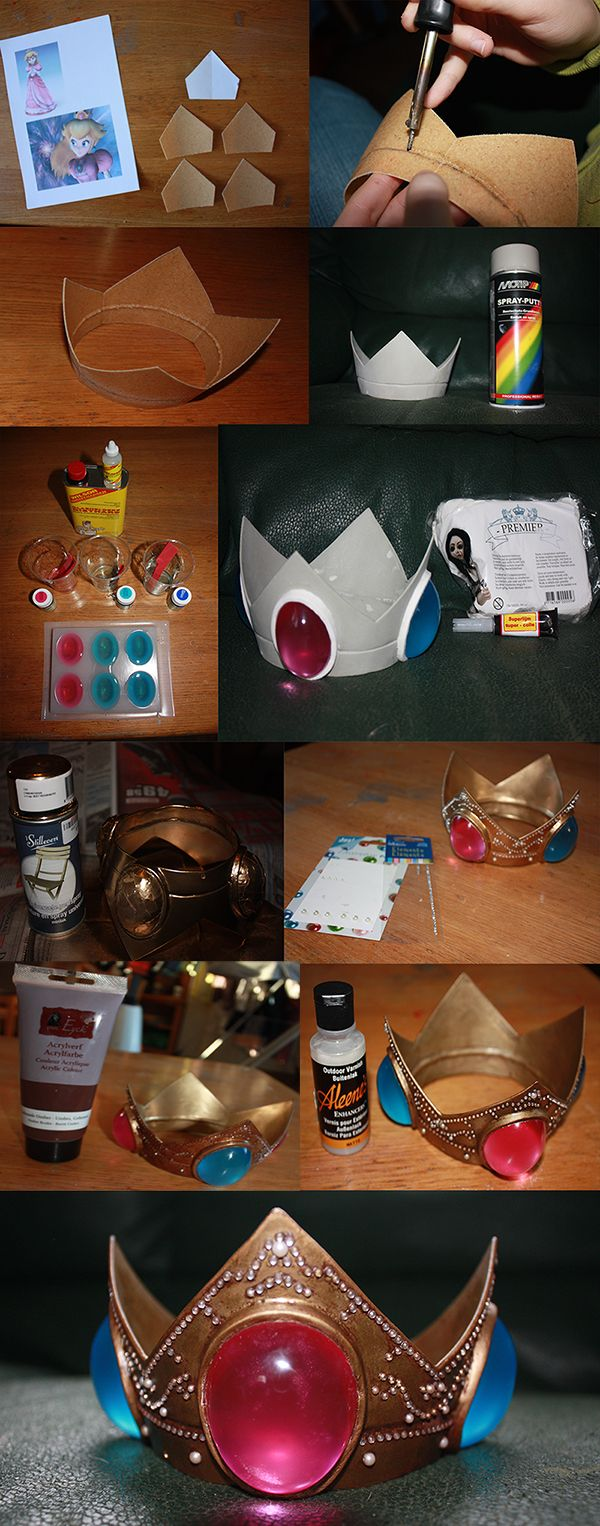 Princess Peach Crown Tutorial by Iloon-Creations.deviantart.com on @deviantART
