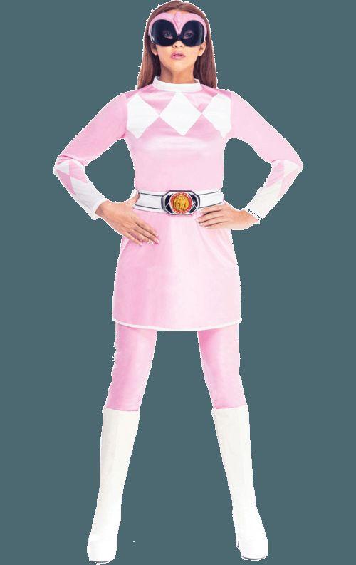 Volwassen Pink Mighty Morphin Power Ranger Dame Kostuum Vrouw