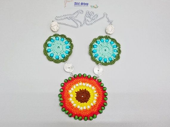 SUPER SALE /Crochet Necklace /Colorful jewelry /Beaded by AfifShop