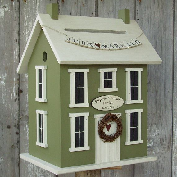 Original  Wedding Card Box Birdhouse  by DoorCountyWoodworks, $125.00
