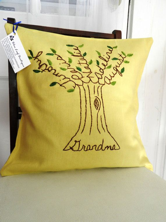 So sweet! The Grandma Pillow Cover Personalized Family by BlueLeafBoutique, $50.00 http://www.etsy.com/listing/96536034/the-grandma-pillow-cover-personalized?ref=af_circ_favitem