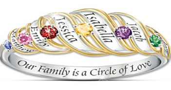 The Perfect Mothers Day Gift-Bradford Exchange Birthstone Rings For Mom