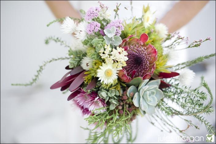 Amazing fynbos protea bouquet