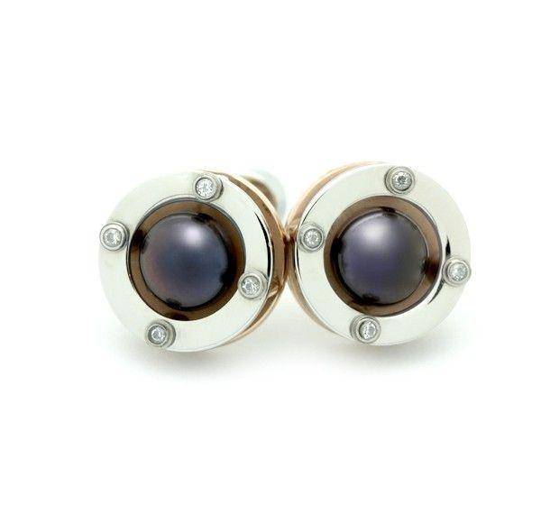 Black Pearl CZ Earrings - Senzu Style