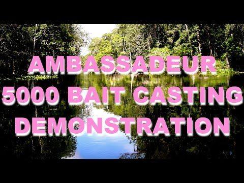 ABU Ambassadeur 5000 Bait Casting Reel Demo in 1956 - YouTube