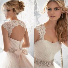 This strap attachment is so elegant. I am a big fan of this and it is a great way to alter a strapless dress for. Bride who prefers dresses with straps.