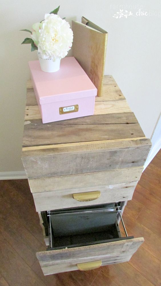 Old Filing Cabinet Makeover - Farmhouse Chic Blog