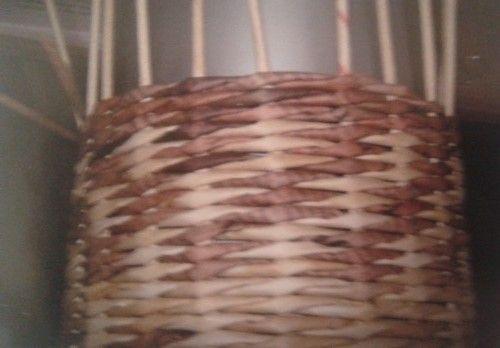 Šachovnicový vzor :: Moje pletení z papíru Hanča Čápule