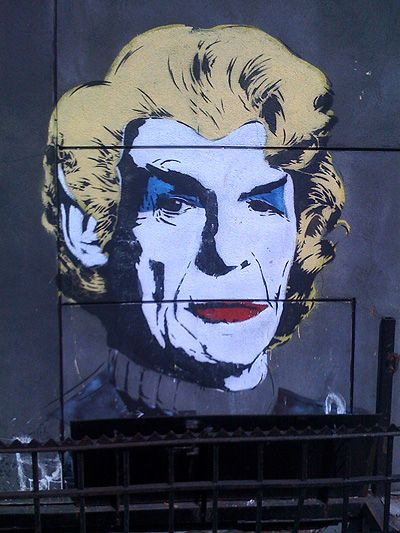 Spock in drag on Kenmare Street, NYC