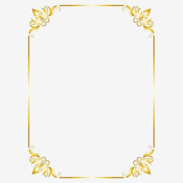 Gold Border Frame Png Element Border Clipart Gold Border Png And Vector With Transparent Background For Free Download Gold Glitter Background Clip Art Borders Gold Border