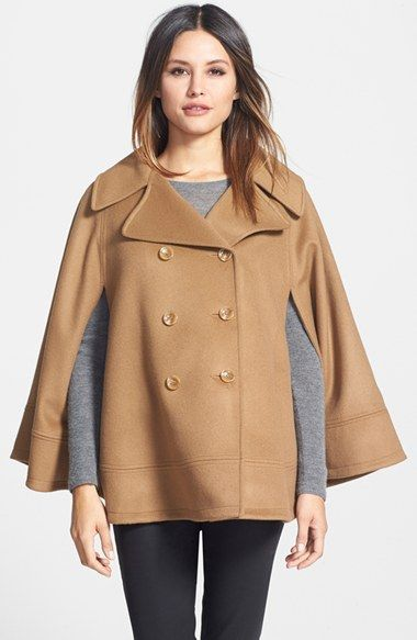 Free shipping and returns on Trina Turk TRINA DB CAPE at Nordstrom.com. Classic peacoat styling informs a smart notch-collar cape crafted from a cashmere-infused lambswool blend for beautifully soft warmth. Tonal topstitching details the design.