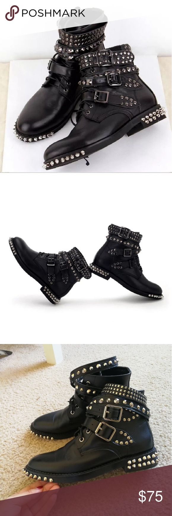 Studded ankle boots in black Size 6.5 Shoes Ankle Boots & Booties