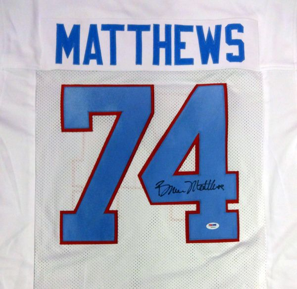 Bruce Matthews Autographed Houston Oilers Jersey PSA/DNA