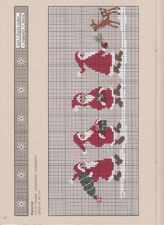 499 besten kreuzstichvorlagen weihnachten bilder auf. Black Bedroom Furniture Sets. Home Design Ideas