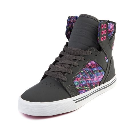 Womens Supra Skytop Skate Shoe in Gray Pink at Journeys Shoes.