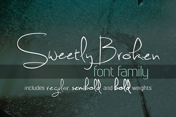 Sweetly Broken Font Family by Brittney Murphy Design on @creativemarket
