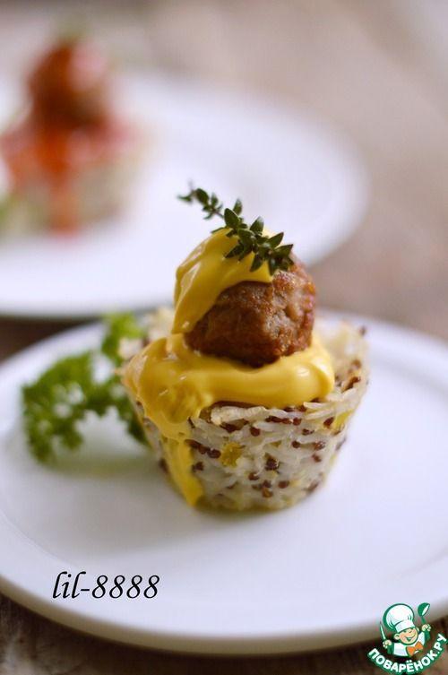 """Рисовые """"капкейки"""" - кулинарный рецепт"""