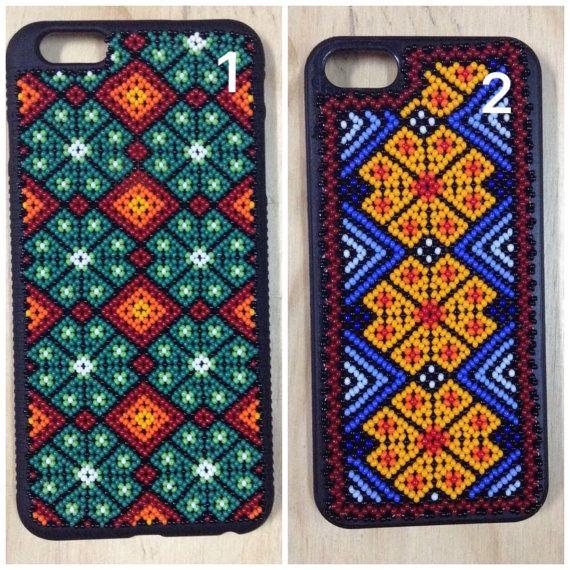 Caso de Huichol iphone - iphone caso arte Huichol - hecho a mano-