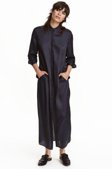 Satin shirt dress   H&M