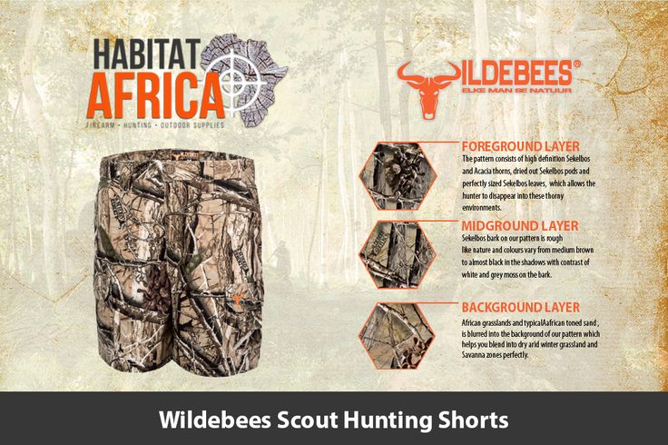 The Wildebees Scout Hunting Shorts are made from 100% Cotton Rip-Stop material…