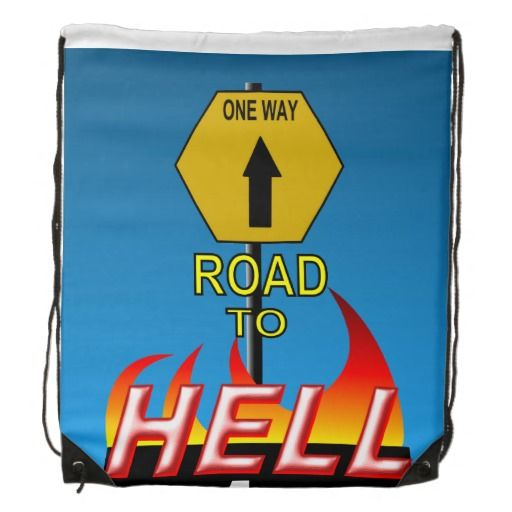 Road to Hell Cinch Bag