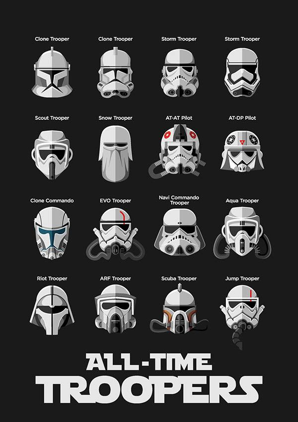 My personal project, illustrating the troopers from the movie and the expanded u…