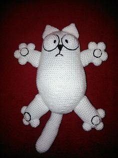 We all love Simon's cat. make one for yourself! Free pattern to crochet a 36cm soft toy.