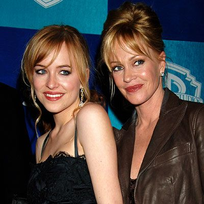 Melanie Griffith and daughter, Dakota Johnson (Don's daughter) makes perfect sense. Dakota is adorable I love her in Ben and Kate.