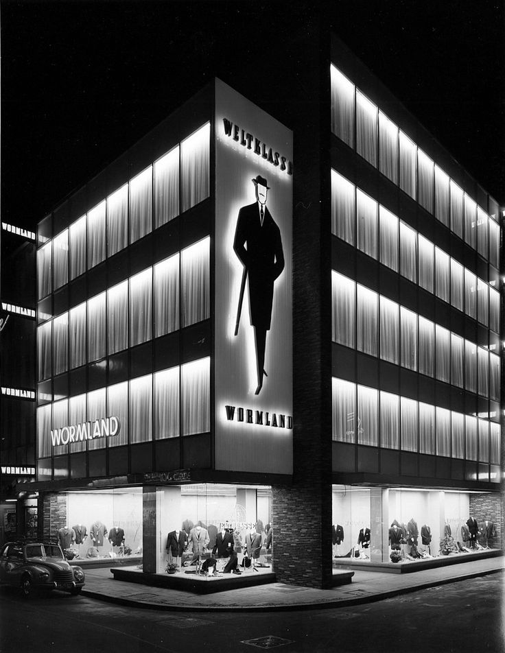 wehadfacesthen:Modehaus Wormland, Cologne, 1957, a photo by Karl Hugo Schmölz