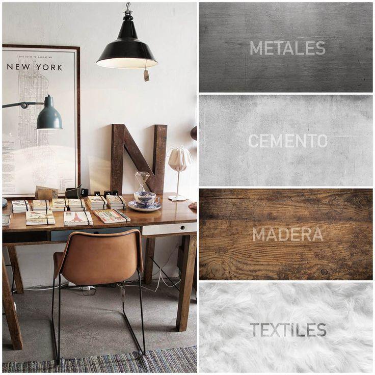 ¡Encuentra el equilibrio entre el toque cálido y el industrial en tu decoración Warm Industrial con la combinación de materiales!