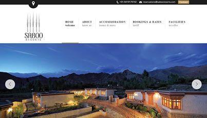 Website Design, Saboo Resorts, Ladakh