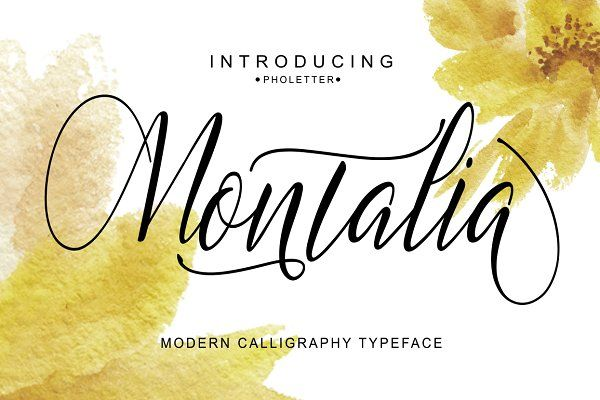 Montalia Script by pholetter on @creativemarket