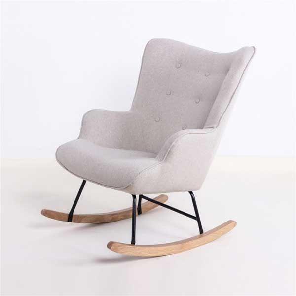 fauteuil a bascule avec large dossier