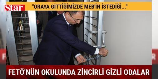 FETÖnün okulunda zincirli gizli odalar: Malatya Valisi Mustafa Toprak Fetullahçı Terör Örgütünün (FETÖ) darbe girişimi sonrası Milli Eğitim Bakanlığına (MEB) devredilen okul ve yurt binasında inceleme yaptı.