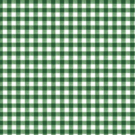 Gingham Forest Gloss Oilcloth - Only Oilcloth