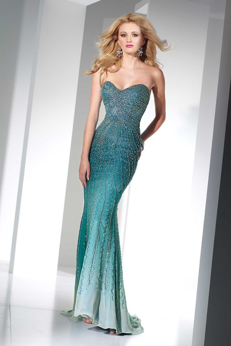 Beaded blue/green dress. Gorgeous.