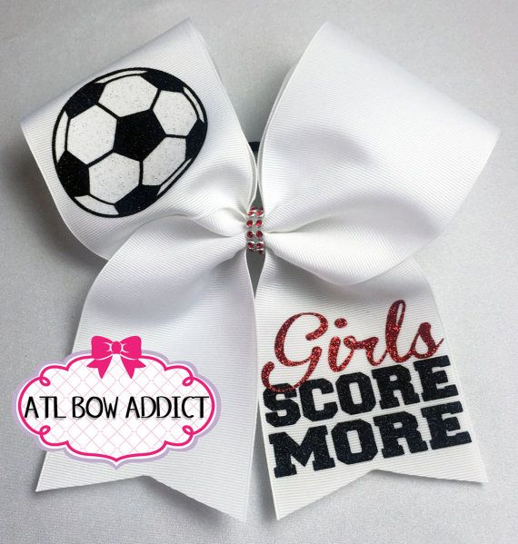 Soccer Bow by AtlBowAddict on Etsy