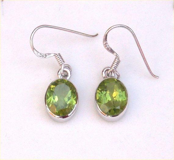 Peridot Earrings/Sterling Silver Peridot by joannasjewellerycouk, £23.99