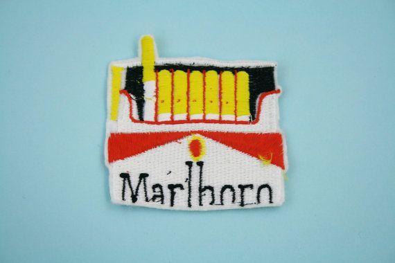 Marlboro cigarette out of pocket patch by Jess por jesswarbyshop, $8.50