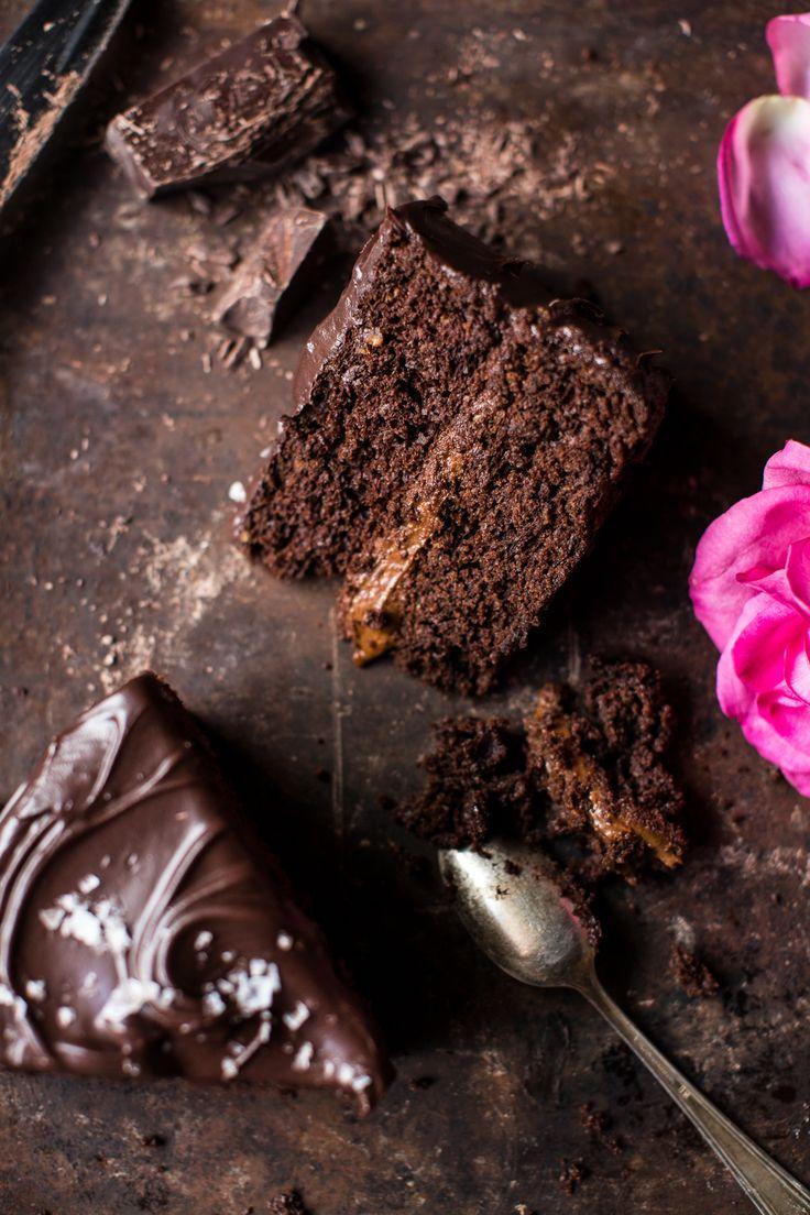 "Vegan Chocolate Cake with Creamy Chocolate Almond Butter ""Buttercream"""