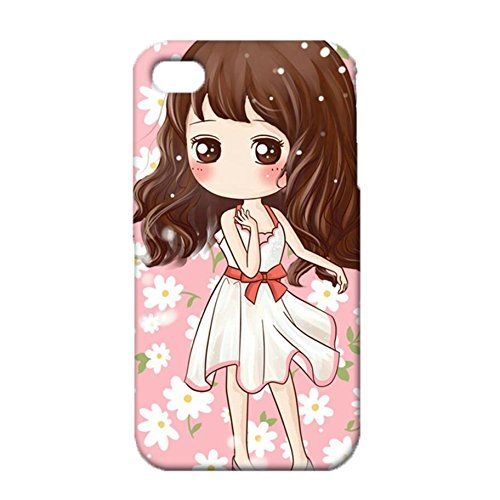 Iphone 4/4s Illustration Phone Case Durable Plastic Lovely Girl Pattern Shell Cover for Iphone 4/4s. Easy installation and removal,keep the screen from scratching or touching the ground. Pronounced buttons are easy to feel and press, while large cutouts fit most cables. 100% brand new and high quality. Full access to all functions buttons, ports, front and rear camera,and flash. More choices and style in design for you.
