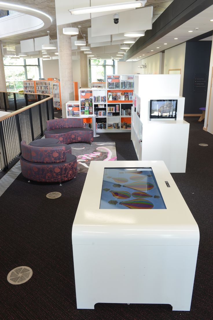 Digitable in children's area features book reviews written by young library users