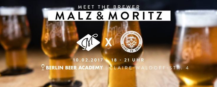 Malz & Moritz will be visiting Berlin Beer Academy. Hendrik Sell from Craft-à-Porter and the brewer Julian Bumper from Malz & Moritz will be present and ready to talk Craft Beer. 3 different beers will be lined up for you to try:  Blonde Ale  Hops: Hallertau Blanc, Hüll Melon and Nugget.