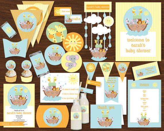 Noah's Ark Baby Shower Printable Kit  by CreativeLittleStars, $14.95