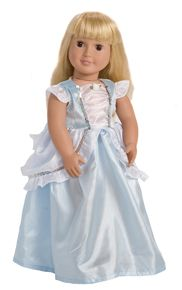 A matching Cinderella Dress for your doll or furry friend. #dollclothes #princessdress #rosiesboutique #rosiesteaparty
