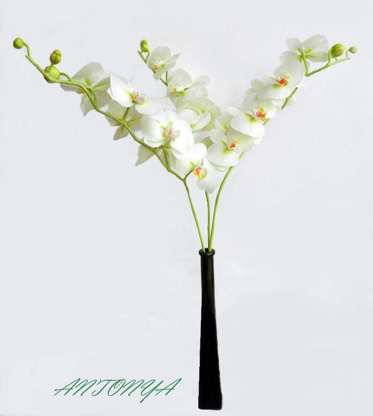 орхидея,холодный фарфор