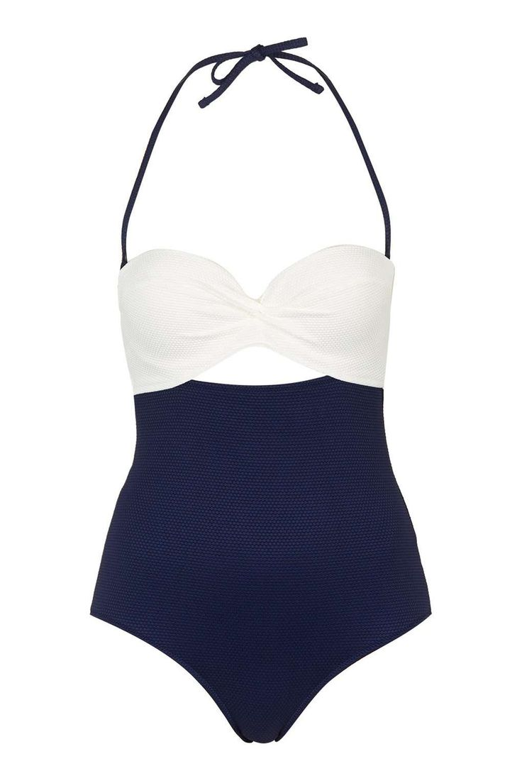 Ruche Front Swimsuit - Love this retro look. When is my beach vacation again?
