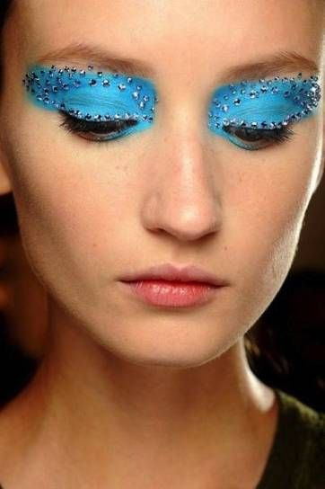 Christian Dior turquoise butterfly make-up - trucco turchese a Farfalla #ChristianDior #makeup #butterfly