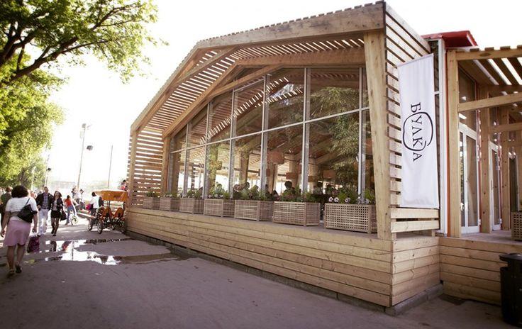 Великолепный дизайн интерьера кафе-пекарни «Булка»